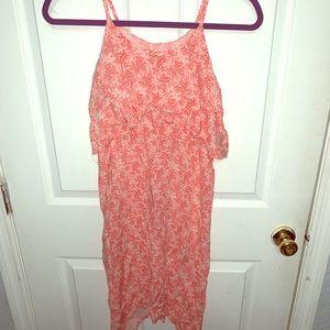 Girls coral dress